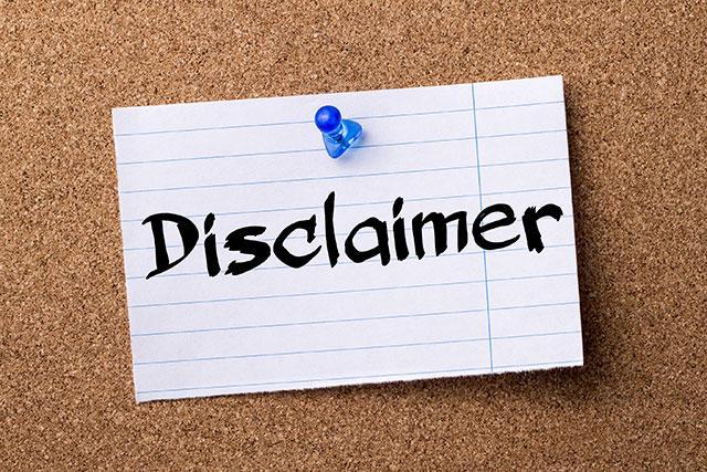 Disclaimer - Plantena